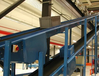 Incline Industrial Conveyor