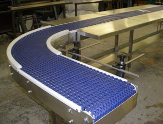 Modular Plastic Belt Conveyor For Toiletries Conveyor
