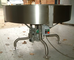 side view of standard stainless steel rotating table