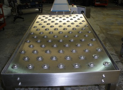 Ball Table with conveyor belt