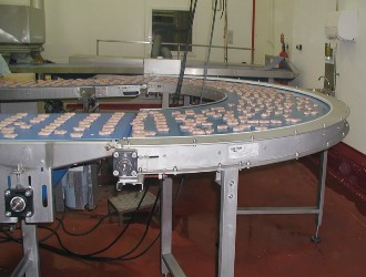Belt Bend Conveyor for food products