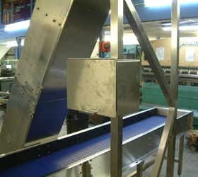 swan neck and plastic belt conveyors