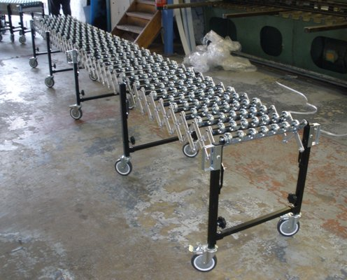 flexy conveyor stretched out