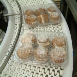 plastic belt food conveyor for small cakes