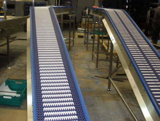 Grip Top Plastic Belt Conveyor System