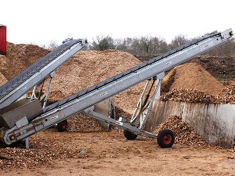 industrial type conveyor used on farms