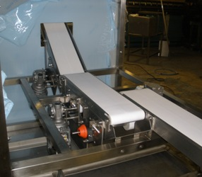 small inclined conveyor system