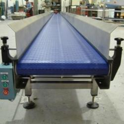 plastic belt conveyor with sides