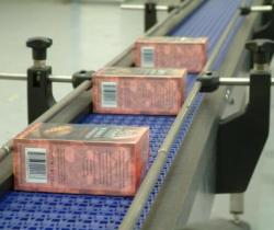 Packing conveyor fot small food products