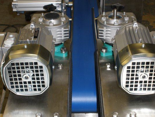 Inspection Conveyor For Reject Products Twin Grip Belt