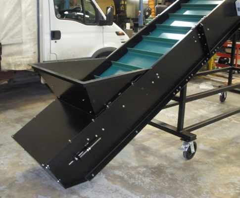 sloping conveyor